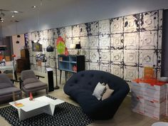 NLXL Tin-01 Brooklyn Tin Wallpaper by Merci on display at Heals Tottenham Court Road #Heals #London #NLXL #Brooklyntin #Tin #Tiles #Wallpaper #Home #Interior #Design #Decor  #Wall #Decorating www.padhome.co.uk