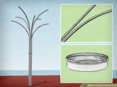 How to Make a Bottle Tree. A bottle tree is a type of recycled glass sculpture that is popular with gardeners. African slaves also kept bottle trees near their quarters. Wine Bottle Garden, Wine Bottle Trees, Wine Tree, Wine Bottle Art, Glass Bottle Crafts, Diy Bottle, Blue Bottle, Glass Garden Art, Glass Art