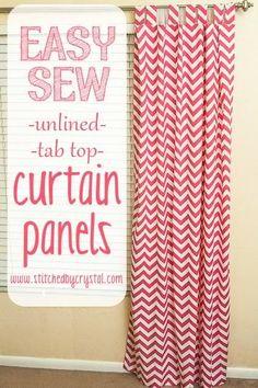 DIY Easy Sew Curtains