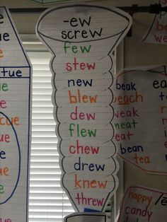 -ew words anchor chart