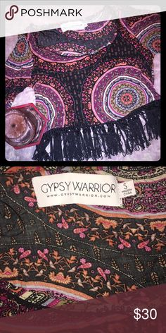 Gypsy Warrior Festival Crop Top ❤️🖤 Trendy Crop Top by Gypsy Warrior. Super cute for a night out or for a festival! Love the tassels on this Top! It has never been worn except for trying it on. 🖤❤️ Gypsy Warrior Tops Crop Tops