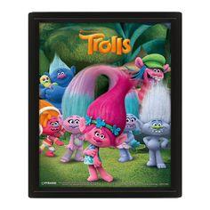 Trolls 3D Poster Characters