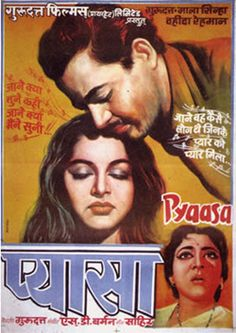 Pyaasa (1957) Old Movie Posters, Cinema Posters, Film Posters, Bollywood Posters, Bollywood Theme, Best Bollywood Movies, Film Poster Design, Movies To Watch Online, Imdb Movies