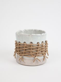 Woven Ceramic Pot from Magpie and Rye