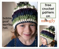 It's fun, wintery, and warm! Lots of options and multiple sizes make this a great pattern for crochet earflap hats (or non-earflap!) for the whole family.