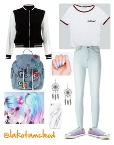 """tumblr girl"" by lakotamcleod on Polyvore featuring BLK DNM, Converse, Topshop and New Look"