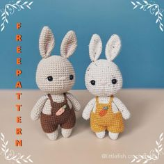 Animal Knitting Patterns, Easter Crochet Patterns, Crochet Amigurumi Free Patterns, Crochet Bunny, Free Crochet, Crochet Rabbit Free Pattern, Amigurumi Doll, Crochet Projects, Creations