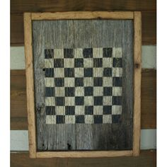 primitive game boards | Primitive Barn Wood Checker Board 100 year Old Wood