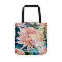 Birthday Blossom Tote Bag - November, Chrysanthemum