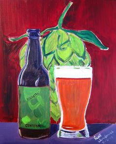 Beer Painting of Mikkeller Centennial. Year of Beer Paintings - Day 214.