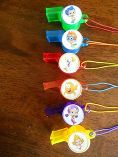 Bubble Guppies party favors whistles birthday by SassyCreationz, $5.25