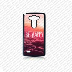 LG G3 case Lg G3 Phone case Be Happy Lg G3 case Cute by KrezyCase, $12.99
