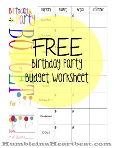 Birthday parties are expensive…very expensive. This article will show you how to keep a birthday party very cheap, and there's a free printable you can download as well to keep you on track!