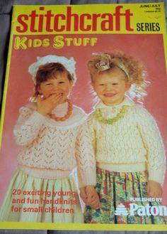 Stitchcraft Kids Stuff Child's vintage knitting pattern book 20 designs #Stitchcraft
