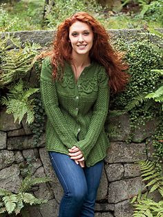 The Circlet Cardigan is cute swing-style cardigan with an intriguing yoke adorned with a cabled knotwork motif. The body of the cardigan is knit flat with a simple Staghorn patterning, while subtle decreases up through the armscyes creates the flattering a-line shaping. Like the sleeves, the body begins with a narrow turned hem and is joined with the sleeves for a short section before the yoke begins.