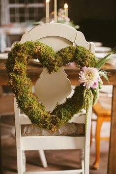 Romantic Wedding Inspiration at The Belmont Center Moss Decor, Woodland Wedding Inspiration, Terrarium Wedding, Wedding With Kids, Wedding Ideas, Fantasy Wedding, Wedding Chairs, Simple Weddings, Rustic Wedding