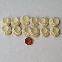 12 Vintage Cream Crosshatched Buttons  Medium by GrannieBunting, £6.00