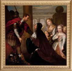 Kedleston Hall © National Trust / Andrew PattersonAlexander with the Mother of Darius  Italian (Venetian) School National Trust Inventory Number 108874 Category Paintings Date circa 1600