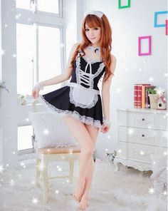 Erotic Lingerie For Women Fashion 2016 Women s Sexy Spruce Lovely Princess  Dress Maid Uniform Suit Game Uniform Sexy Lingerie 794a9575f