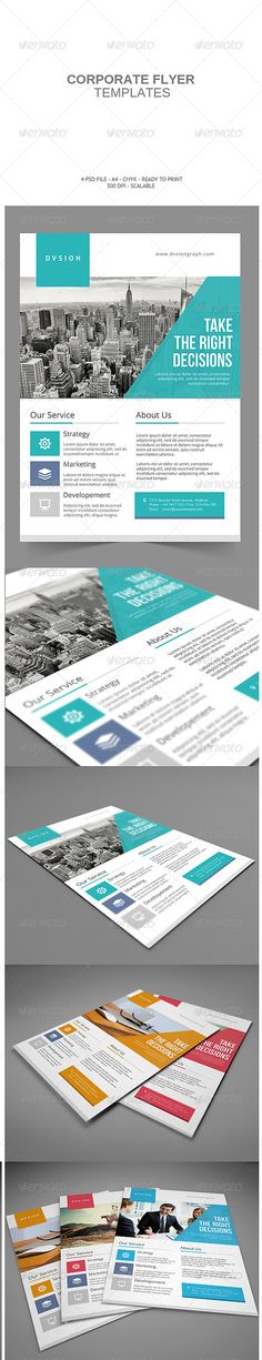 Corporate Flyer Template PSD | Buy and Download: http://graphicriver.net/item/corporate-flyer-/8160977?ref=ksioks                                                                                                                                                      More