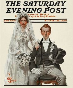 married bliss by James Blah, via Flickr - illustration by J.C. Leyendecker