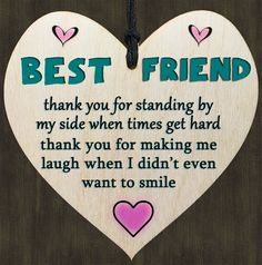 Details about Friend Friendship Poem SIGN – Wooden Heart Quote Gift For Your Best Friend - Trend Girl Quotes 2020 Message For Best Friend, Best Friend Poems, Best Friend Cards, Best Friends Sister, Best Friend Gifts, Poems About Best Friends, Drawings For Best Friends, Best Friend Messages, To My Best Friend