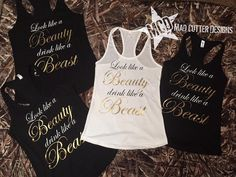 Beauty and the Beast Bridal Shirts Bridal by MadCutterDesigns