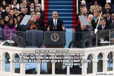 Did you see Obama's inauguration speech?