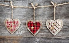 Wood hearts on a string wallpaper, Wood hearts on a string Holiday HD desktop wallpaper