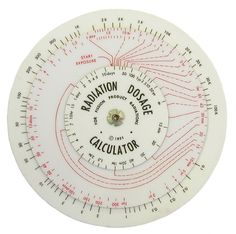 Radiation Dosage Calculator (early 1950s) #round