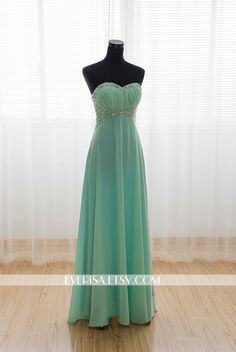 Mint Chiffon A-line Long Prom Dresses, Evening Dresses, Prom Dresses 2014, Military Ball, Formal Dresses by Everisa on Etsy https://www.etsy.com/listing/206270024/mint-chiffon-a-line-long-prom-dresses