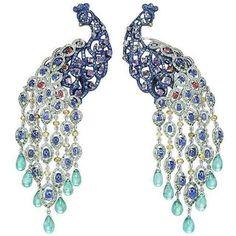 Gorgous @chopard peacock earcuffs ♥♥♥ repost from @martzhenya