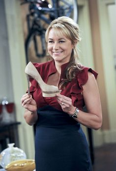 """Audrey Bingham from CBS' """"Rules of Engagement,"""" played by Megyn Price."""