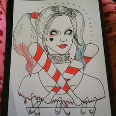 Harley Quinn drawing