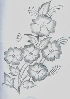 40 Easy Flower Pencil Drawings For Inspiration Easy Flower Drawings, Beautiful Flower Drawings, Flower Art Drawing, Pencil Drawings Of Flowers, Girl Drawing Sketches, Girly Drawings, Flower Sketches, Art Drawings For Kids, Art Drawings Sketches Simple