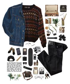 """the boy who believed in aliens."" by tzingfung ❤ liked on Polyvore featuring INDIE HAIR, Wrangler, AG Adriano Goldschmied, Stussy, BLACK BROWN 1826, Primula, DSPTCH, CO, men's fashion and menswear"