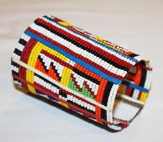 AFRICAN+MAASAI+MASAI+BEADED+TRADITIONAL+ETHNIC+TRIBAL+WIRE+BRACELET+-+KENYA+#11+#Unbranded