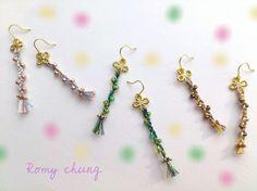 綺麗な色の糸達をミックスして、小さな小さな三つ編みちゃんにしました。さりげなく女学生風で着けると可愛らしいです♪長さ 約5cm(金具含め)メッキ ガラス 糸使...|ハンドメイド、手作り、手仕事品の通販・販売・購入ならCreema。