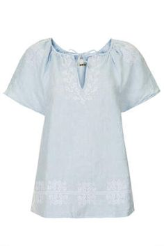 MOTO Embroidered Smock Top - New In This Week - New In