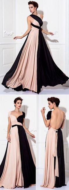 Floor-length Knit Convertible Dress
