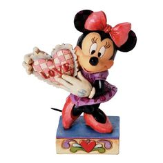 Enesco Disney Tradition - Figurilla de Minnie, de resina, altura de 12 cm, multicolor