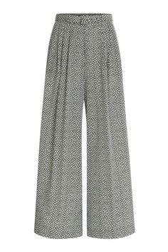 Vintage style 1930s or 1940s wide leg pants - Etro Wide-Leg Printed Silk Pants - multicolor $1,430.00 AT vintagedancer.com