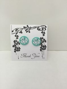 Check out this item in my Etsy shop https://www.etsy.com/listing/234800092/monogrammed-acrylic-earrings