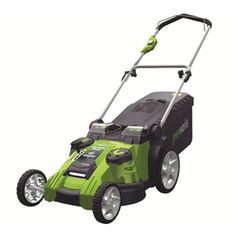 This is a great lawnmower!  It's quiet, easy to use and NO gas!  Greenworks Cordless Electric Push Lawn Mower