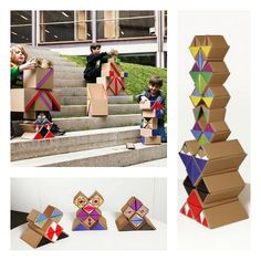 QBOX is a construction system made out of cardboard with endless applications such a furniture, decoration, kids games, displays or storage solutions.