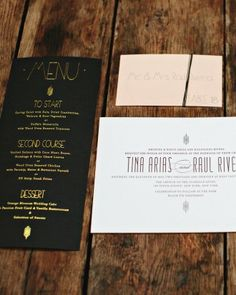 """See the """"The Invitations"""" in our A City Wedding With Floral Accents in New York gallery"""