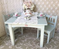 Shabby Children's Table and Chair set activity by FannyPippin
