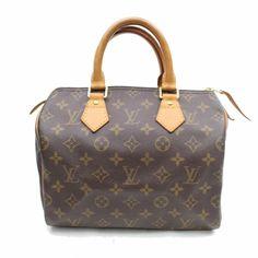 3b6d03d04a7b Louis Vuitton Speedy 25 M41528 Brown Monogram Hand Bag 11055