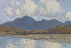 Paul Henry, Lake and Blue Mountains of Connemara, undated, Oil on canvas, Unframed: 40 x 60 cm , Collection Irish Museum of Modern Art.