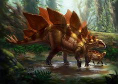Stegosaurus armatus by Kaek.deviantart.com on @DeviantArt